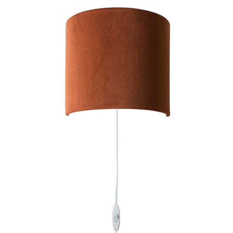 Wandlampe 'Sweet' Samt rostrot 23cm