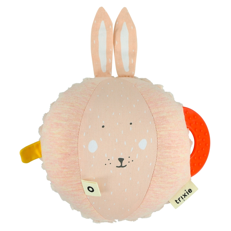 Babyball 'Hase' Baumwolle puderrosa 20cm
