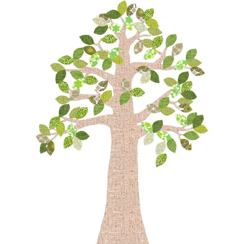 Tapetenbaum natur/grün 230cm