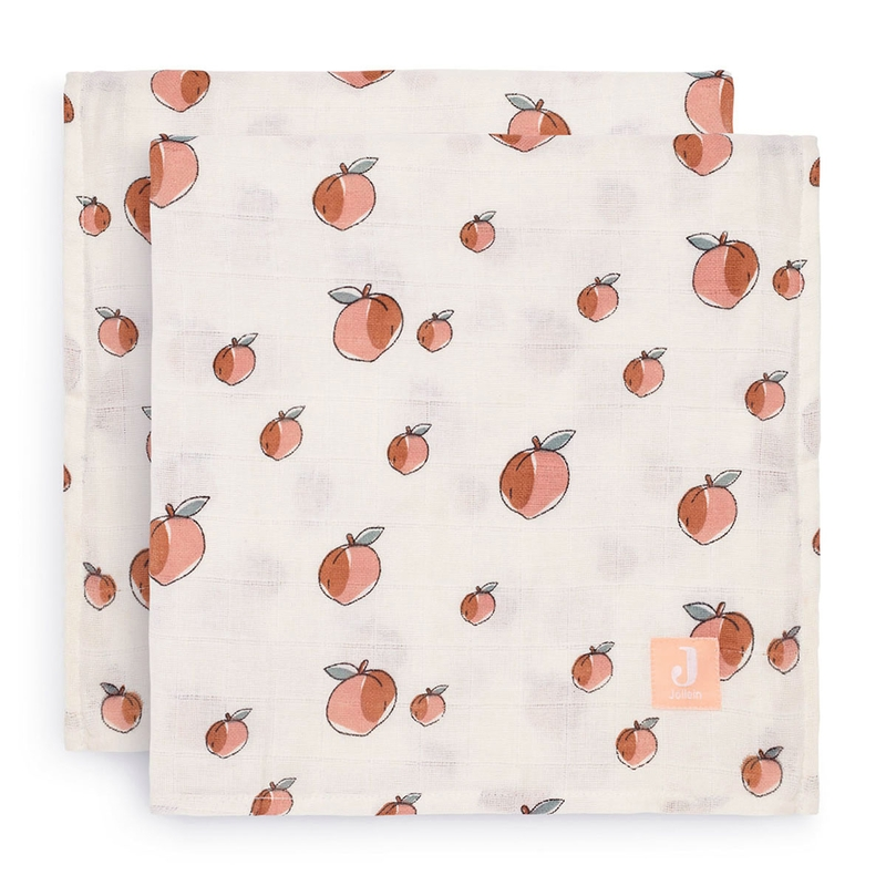 Pucktücher 'Peach' rosa 115x115cm