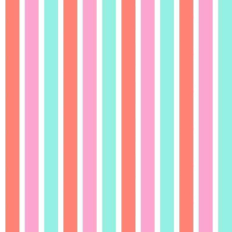 Vliestapete 'Blockstreifen' rosa/mint