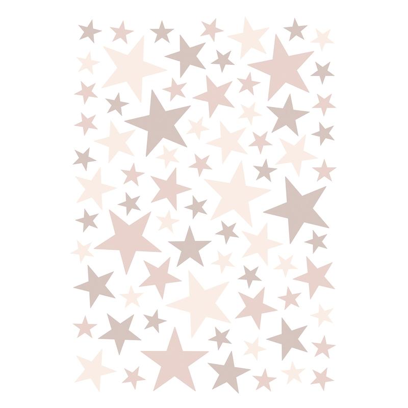 Wandsticker 'Basic Sterne' altrosa 74-tlg.