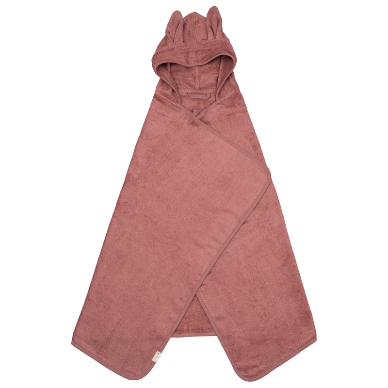 Wickeltuch 'Hase' Frottee mauve 75x120cm
