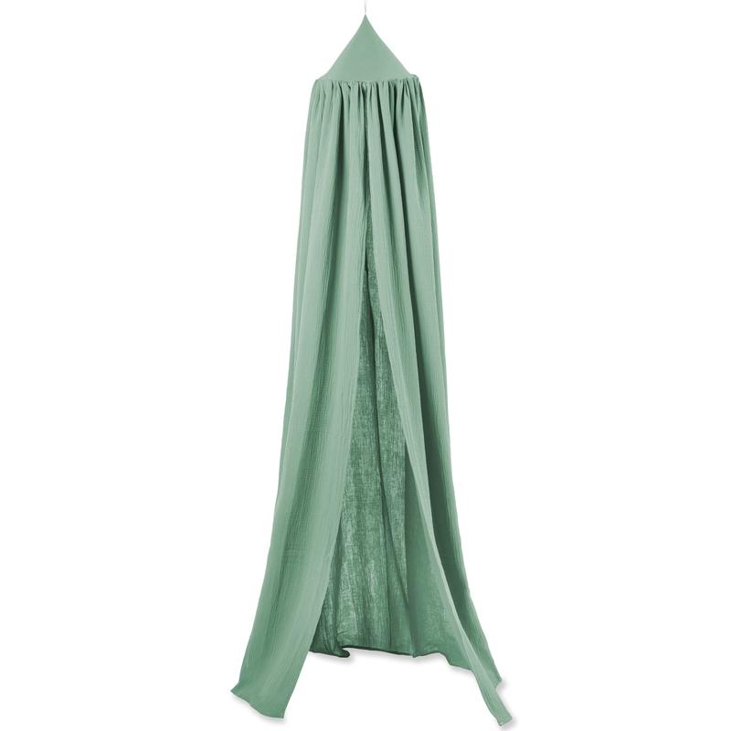 Mini-Baldachin 'Terra' Musselin grün Ø 28cm