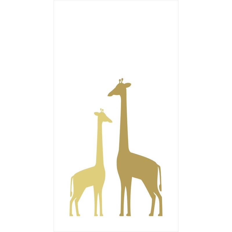 Fototapete 'Giraffen' weiß/ocker 150x279cm
