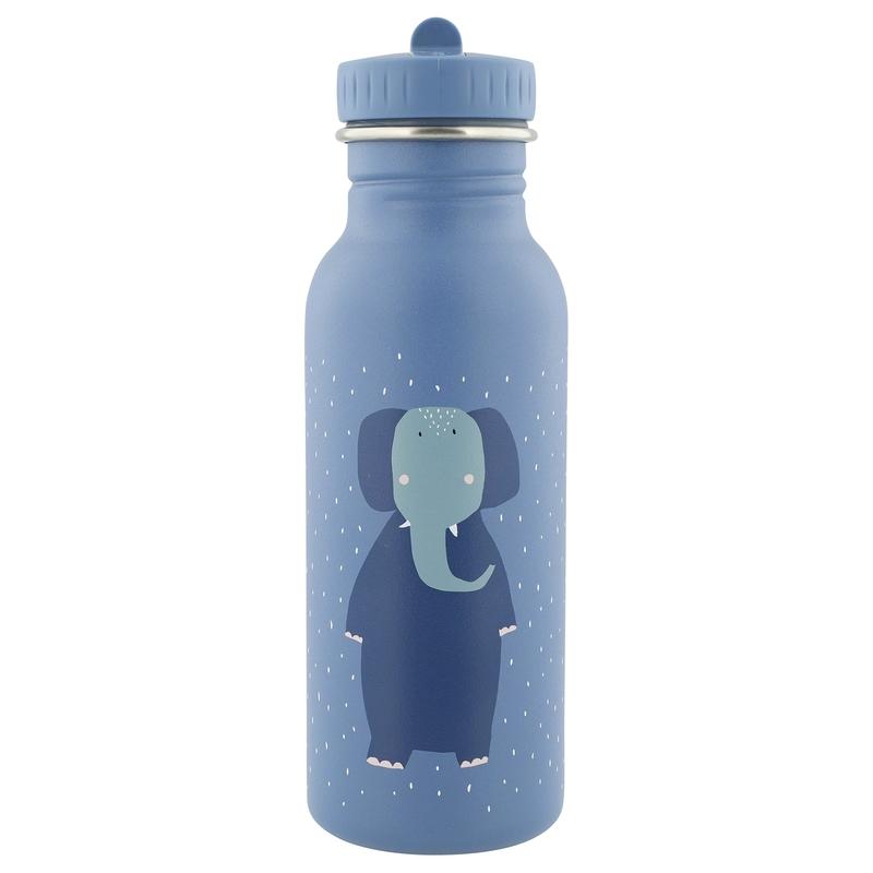 Trinkflasche 'Elefant' Edelstahl blau 500ml