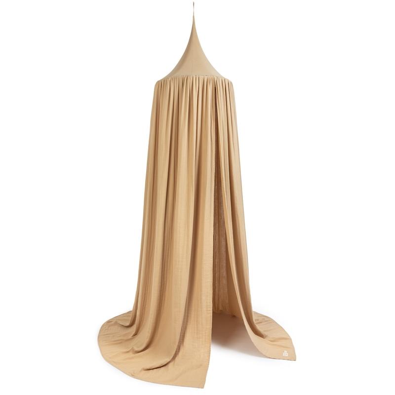 Betthimmel 'Amour' Musselin nude 250cm