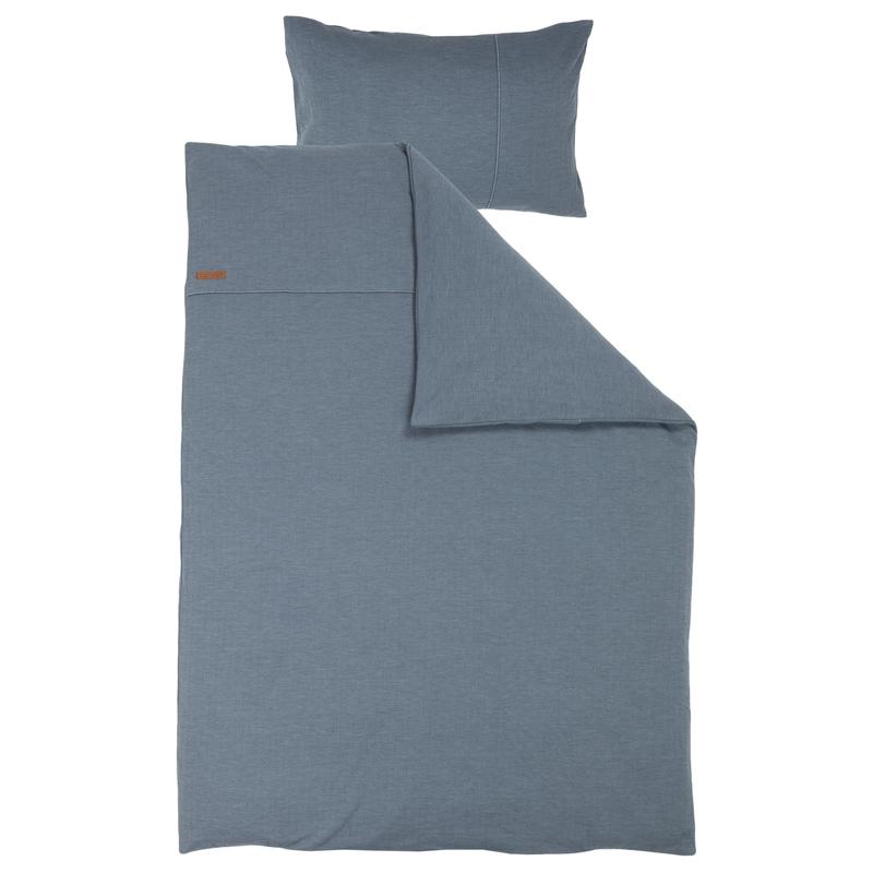 Bettwäsche 'Pure' rauchblau 100x140cm