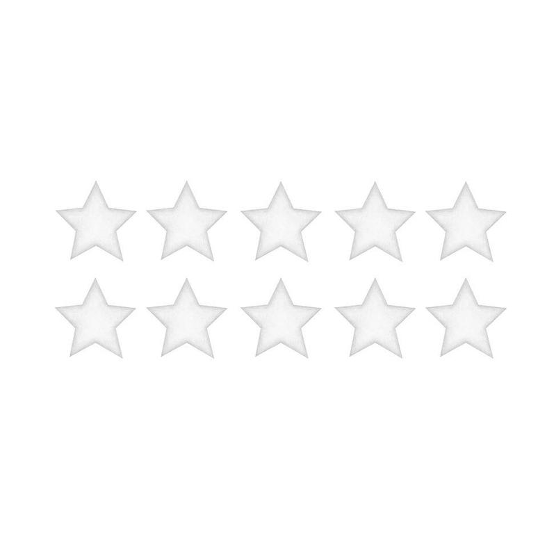 Wandsticker '10 Sterne' weiß 3D Optik