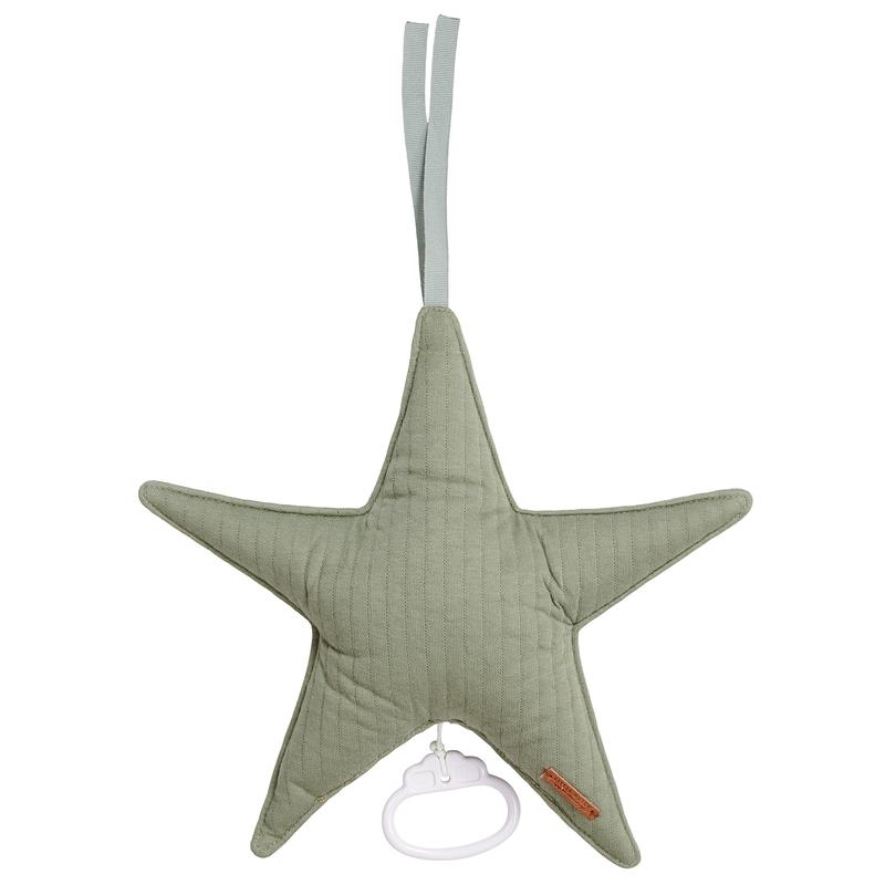 Spieluhr Stern 'Pure' Jersey oliv ca. 27cm