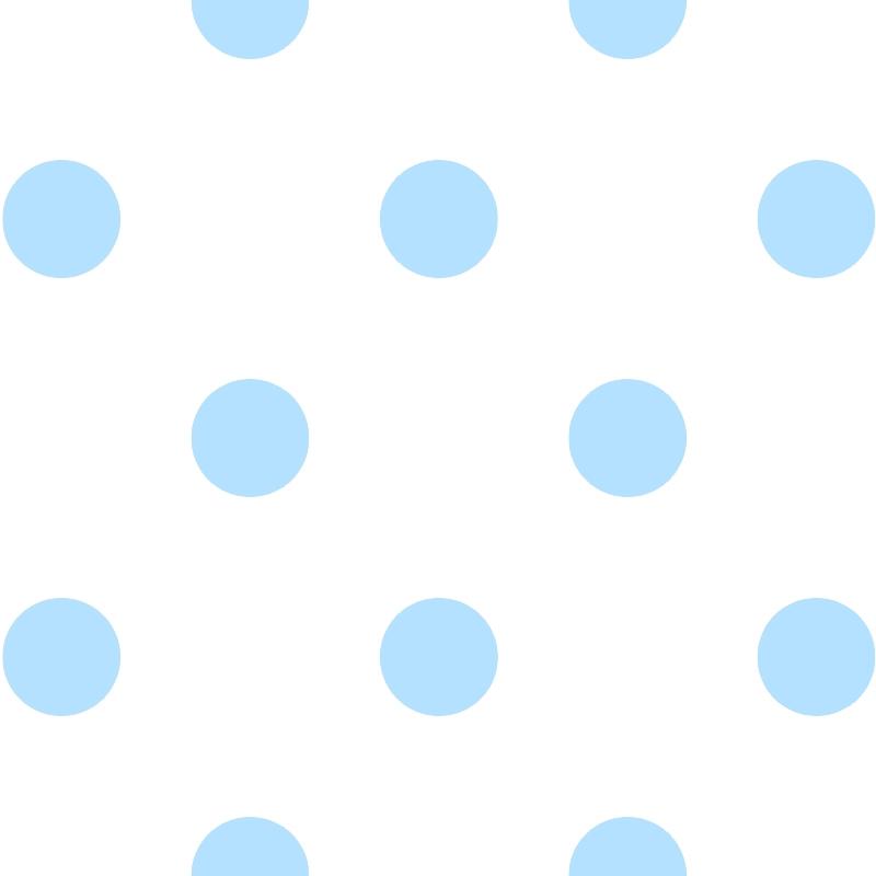 Kindertapete 'XL Punkte' weiß/hellblau