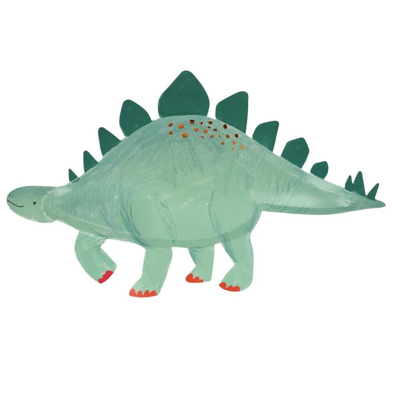 XL Party Pappteller 'Dinosaurier' grün 4 Stk.