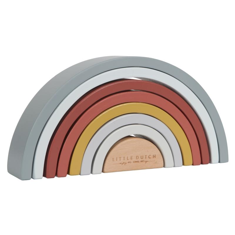 Regenbogen aus Holz blau/rost 23cm ab 1 Jahr