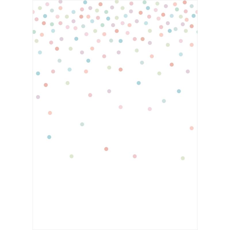 Fototapete 'Punkte' rosa/mint 200x279cm
