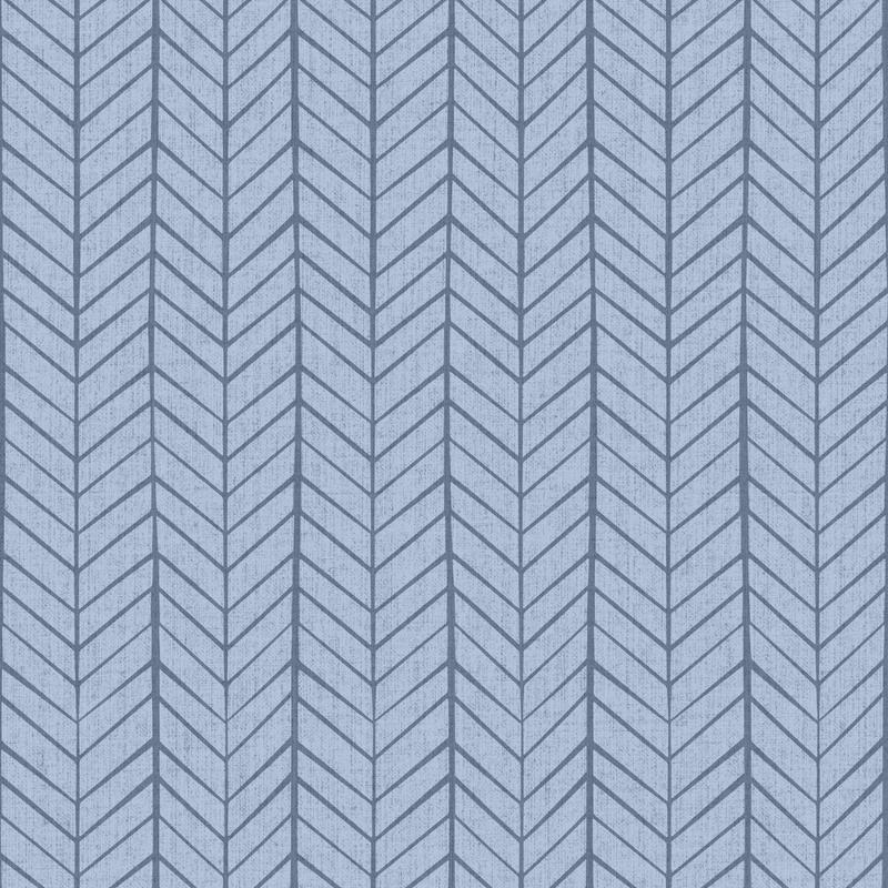 Vliestapete 'Pfeilmuster' blau