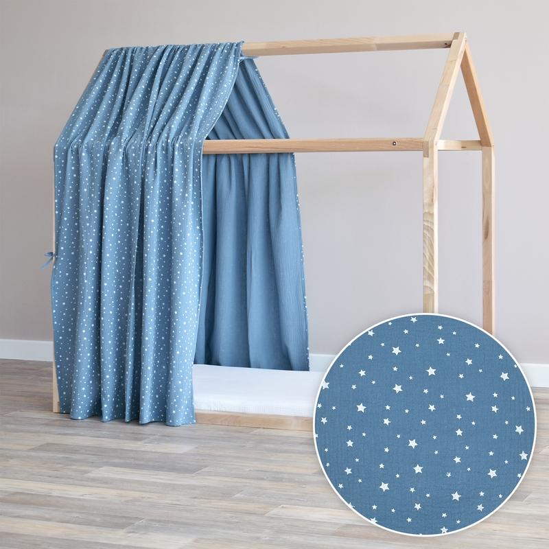Hausbett-Himmel 'Sterne' rauchblau 315cm 1 Stück
