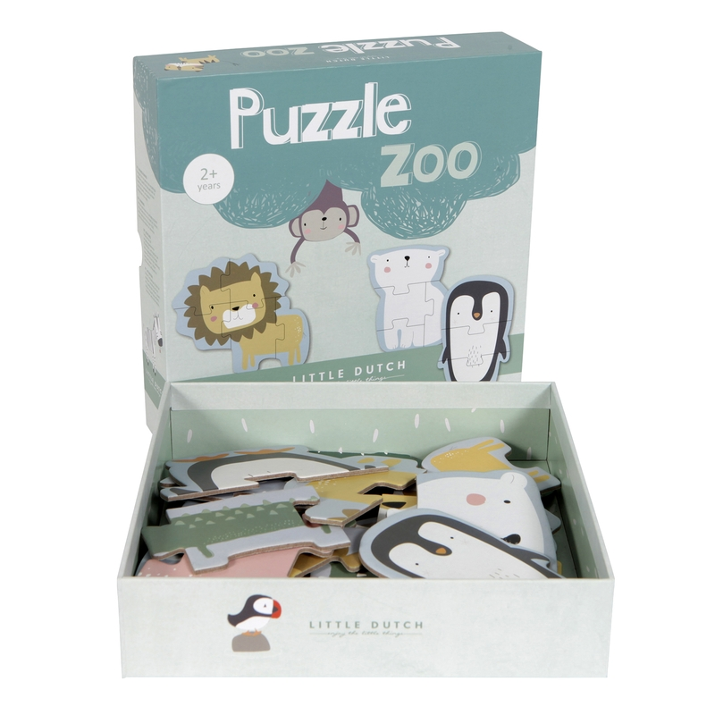 Tierpuzzle 'Zoo' aus Pappe ab 2 Jahren
