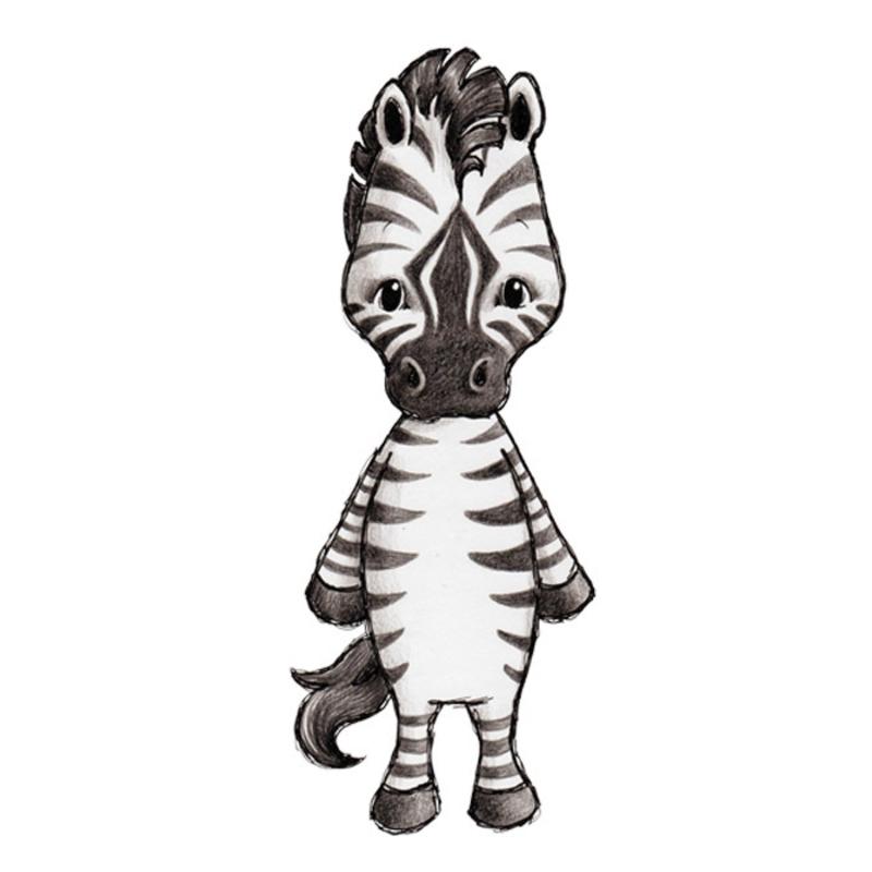 Tier-Wandsticker 'Zebra' handgezeichnet