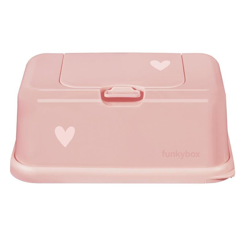 Feuchttücherbox 'Herz' rosa 21cm