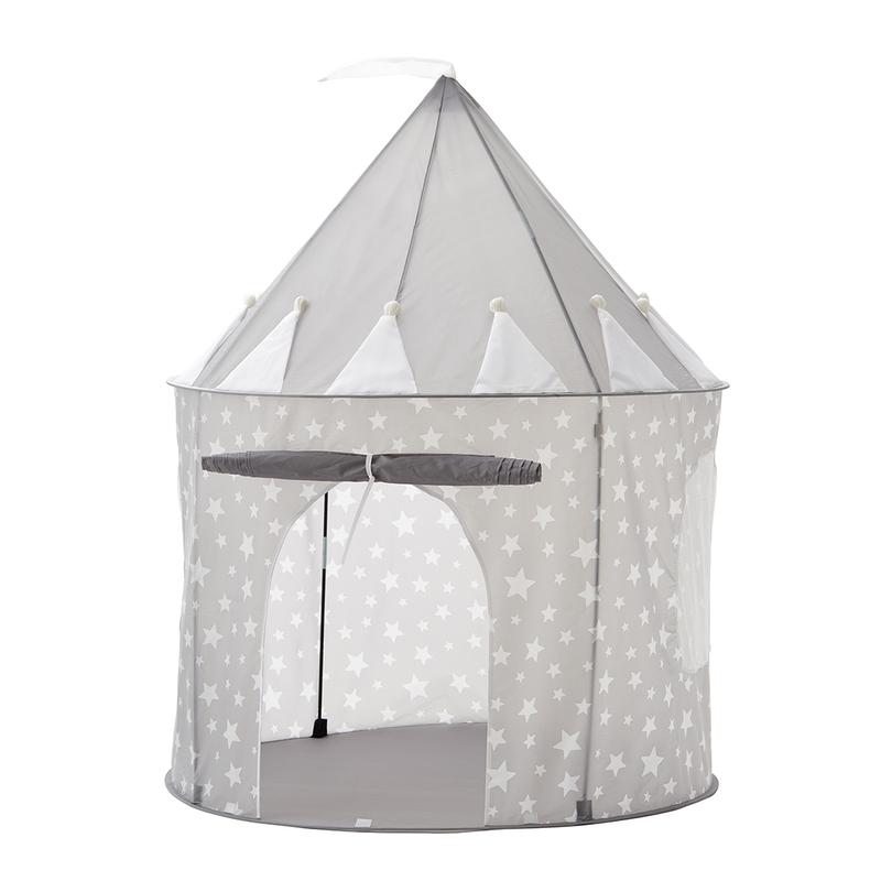 Spielzelt/Spielhaus 'Sterne' grau 130x100cm