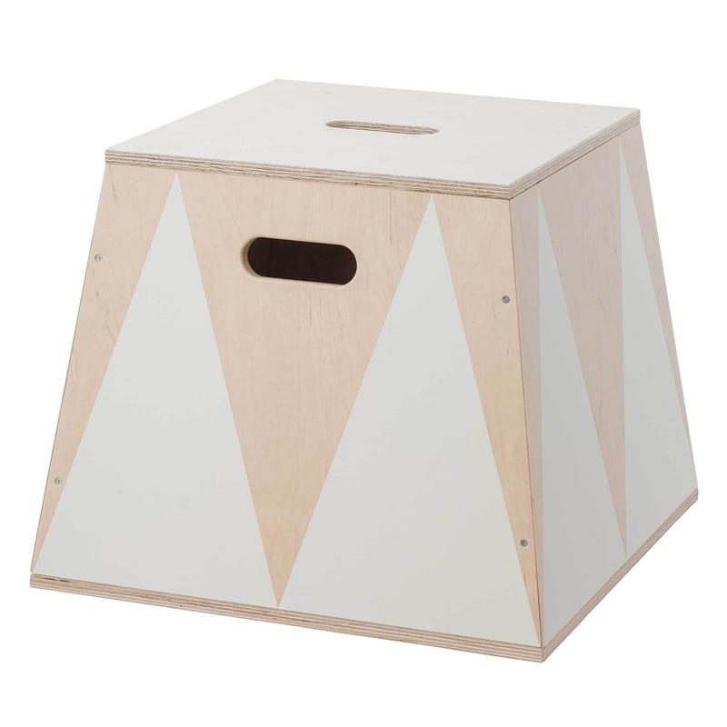 Spielzeugkiste 'Trapez' Holz creme 45cm