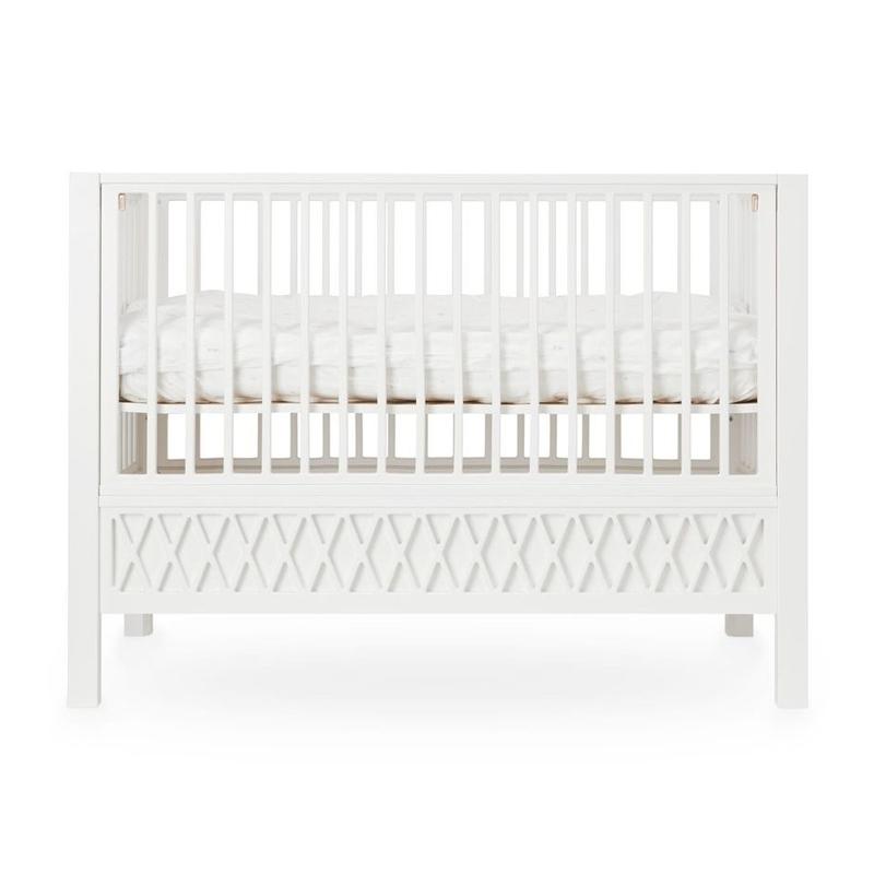 Babybett 'Harlequin' weiß 60x120cm