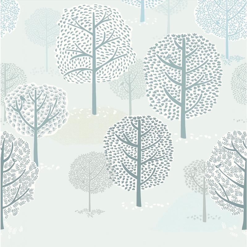 Fototapete 'Mini Me' Wald mint 279x280cm