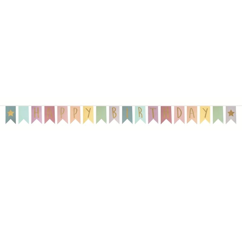 Geburtstags-Girlande Happy Birthday bunt
