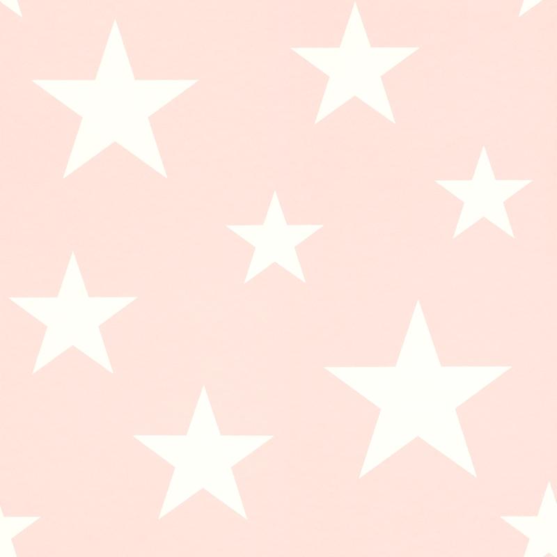 Vliestapete 'Sterne' rosa/weiß
