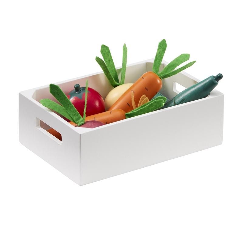 Gemüsekiste aus Holz ab 3 Jahren