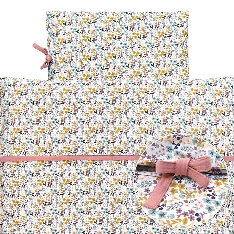 Bettwäsche 'Blumen' rosa 100x135cm