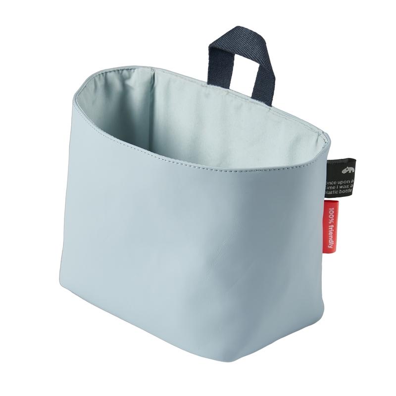 Recycle-Wandtasche softblau 15x13cm