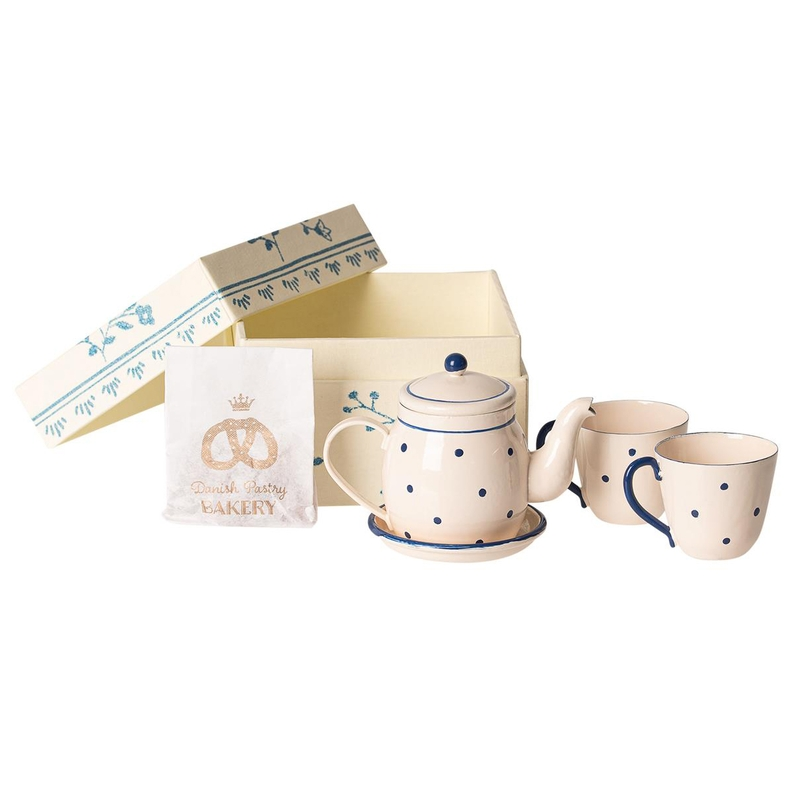 Tee & Kekse für Puppenhaus creme 5cm (Mini)