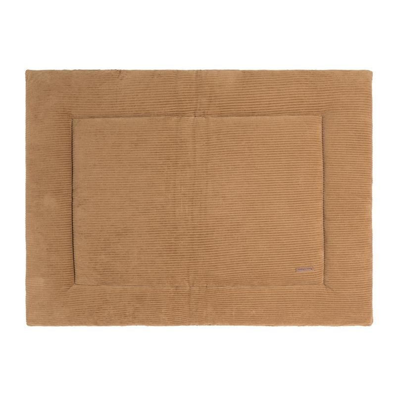 Samt Krabbeldecke 'Sense' karamell ca. 75x95cm