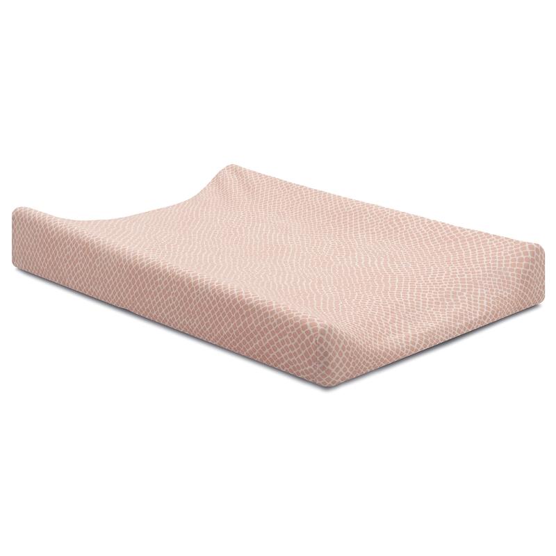 Wickelauflagenbezug 'Kacheln' Jersey rosa