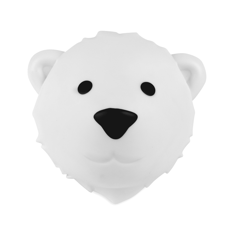Wandlampe Eisbär 'Björn' weiß LED Farbwechsel