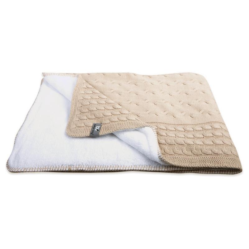 Decke mit Teddy 'Zopf' beige 90x75cm
