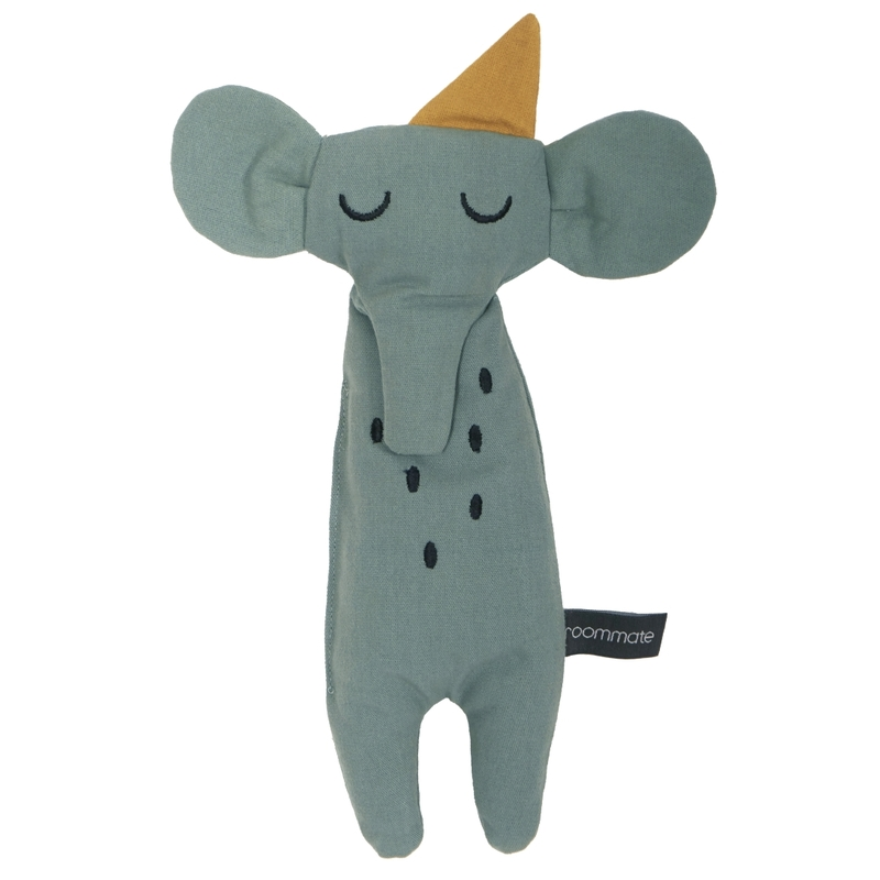 Spielpuppe 'Elefant' bestickt jade 30cm