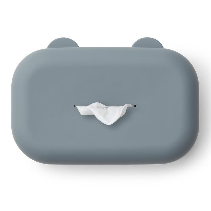 Feuchttücher-Box Silikon rauchblau