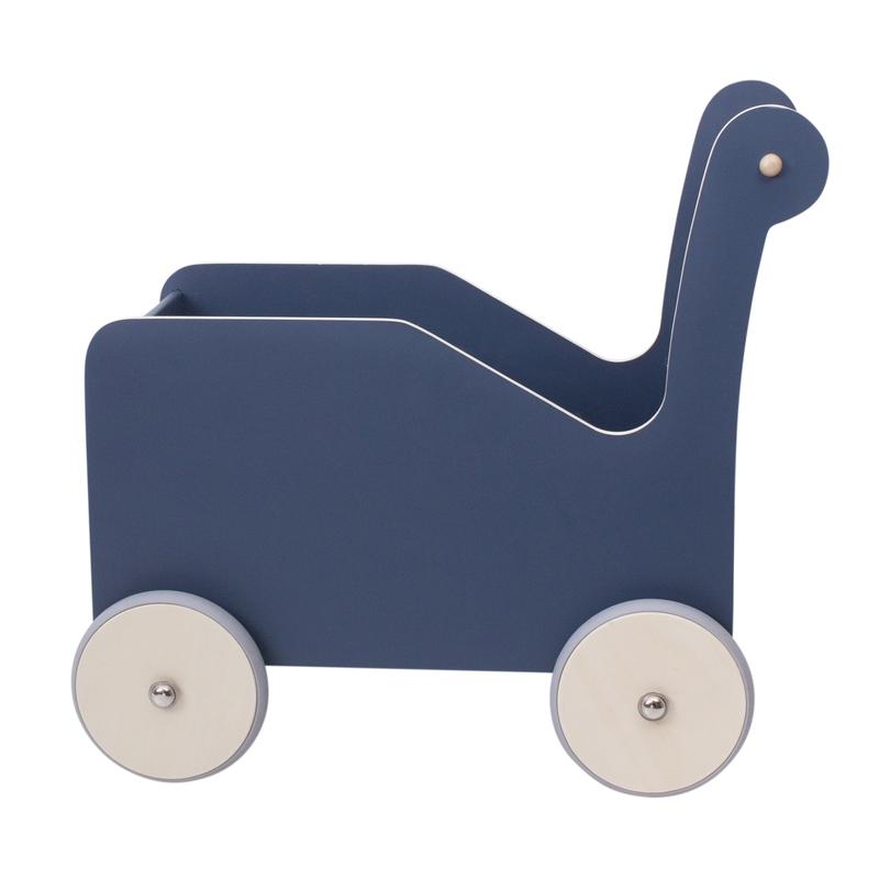 Laufwagen mit Gummirädern nordic blue ab 1 Jahr