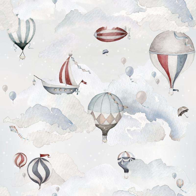 Fototapete 'Heißluftballons' blau 100x280cm