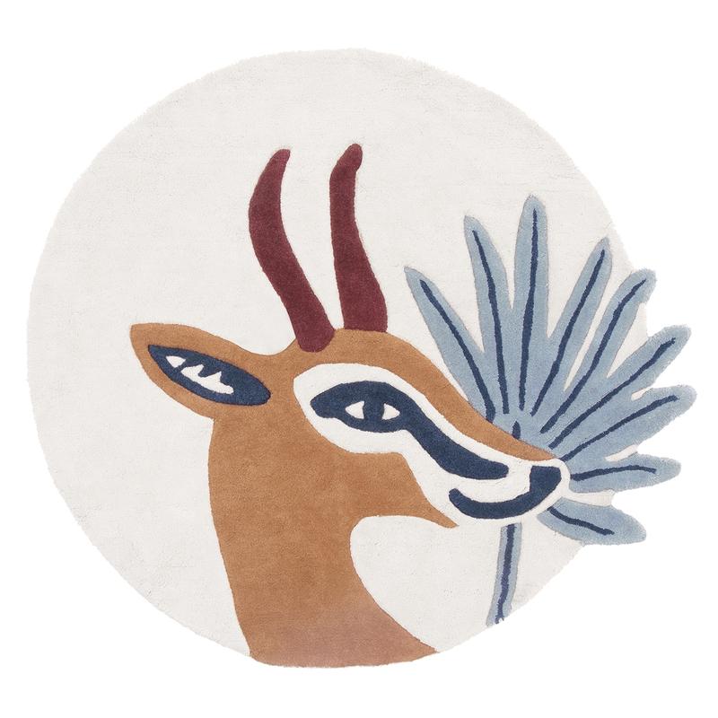 Kinderteppich 'Gazelle' Baumwolle rund 100cm