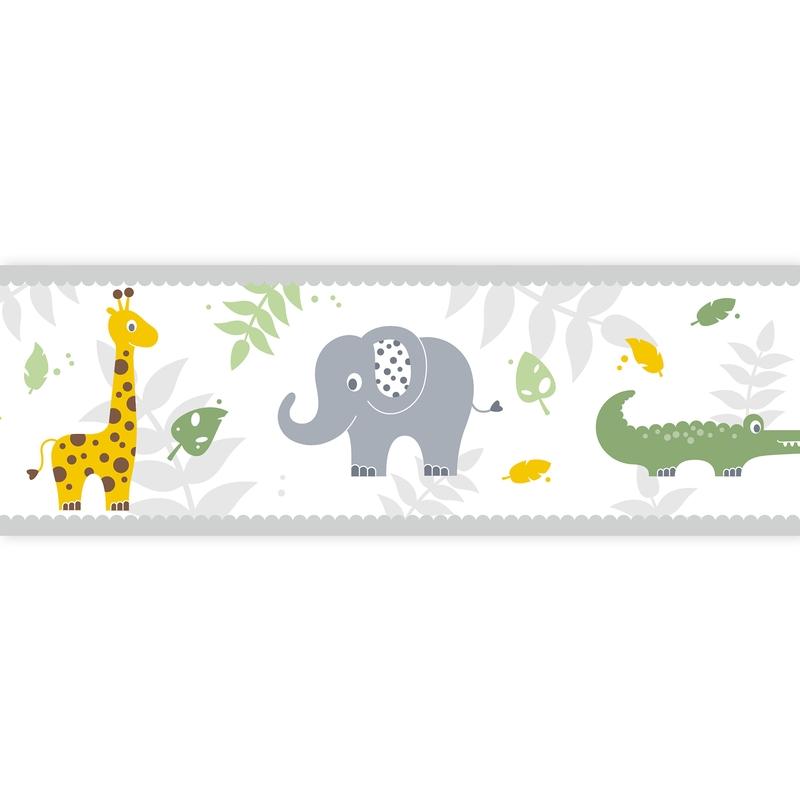 Bordüre Safari gelb/grün selbstklebend