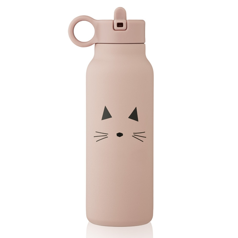 Trinkflasche 'Katze' Edelstahl rosa 350ml