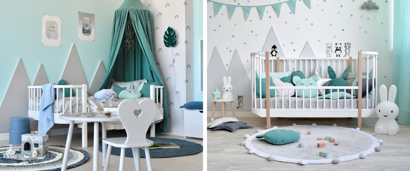 Kinderzimmer in Mint & Türkis
