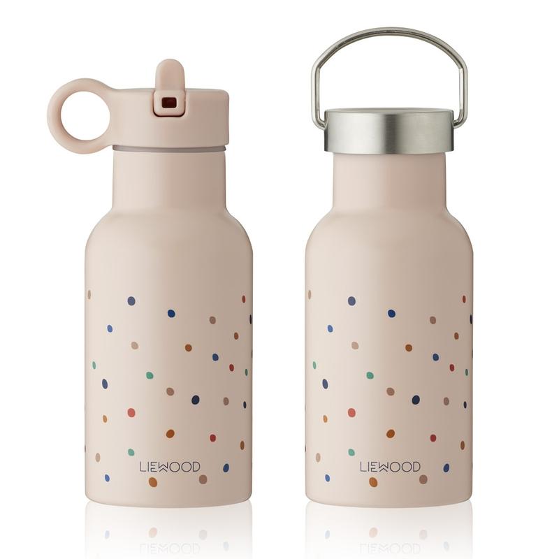 Trinkflasche 'Konfetti' Edelstahl rosa 350ml