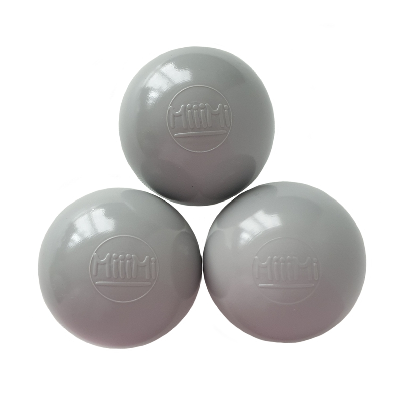 Zusatzbälle für Bällebad grau 50 Stück