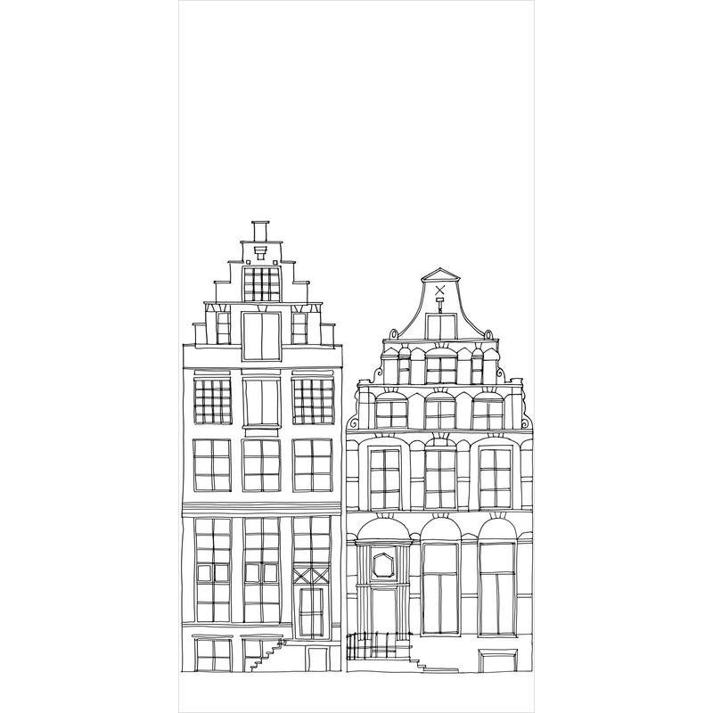 Fototapete 'Amsterdam' schwarz 139x279cm