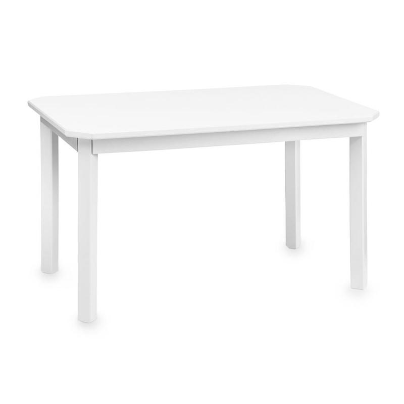 Kindertisch 'Harlequin' Holz weiß 79x47cm