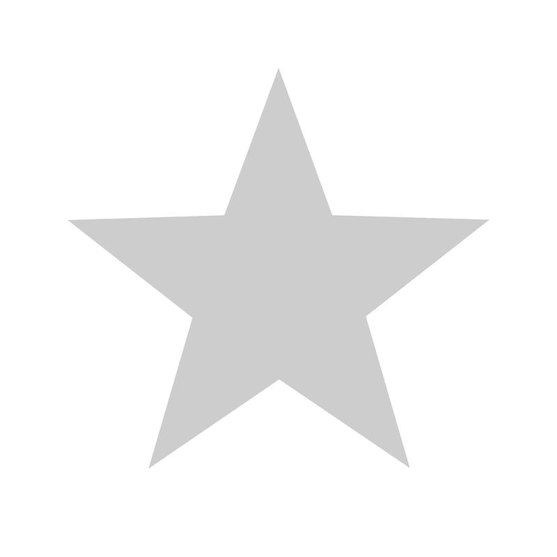 Vliestapete 'Maxi Sterne' weiß/grau